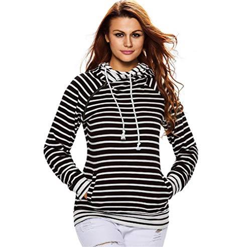 NBE Frauen Kausale Einfache Baseball Stripes Hoodie Pullover Patchwork Lange Hülse