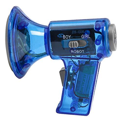 Mini-Kinder-Handheld-Mehrfrequenz-Horn-Lautsprecher,Lustige Multi Voice Changer Verstärker 3 Verschiedene Stimmen Spaß Spielzeug Lautsprecher Kinder Geschenk Sisit (Blau) -