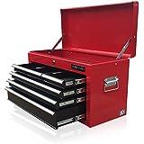 US PRO herramientas caja de herramientas herramienta de funda para portátil con 6cajones Armario de herramientas rojo negro Cojinete de bolas deslizante cajones