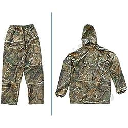 Sutter Hombre Chaqueta y Pantalón de Caza (Traje de Lluvia/Camuflaje (2Piezas) Camuflaje, Tamaño: L