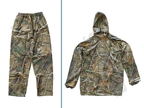 Sutter Pantaloni e Giacca da Caccia da Uomo (Tuta Impermeabile/Tuta Mimetica a Due Pezzi) Stile Mimetico