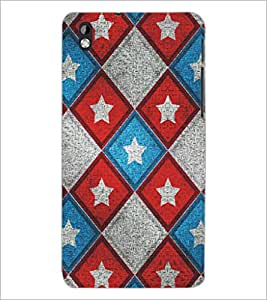 PrintDhaba Pattern D-5327 Back Case Cover for HTC DESIRE 816 (Multi-Coloured)