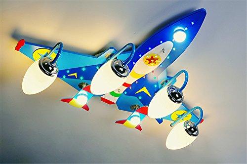 BRIGHTLLT Kinderzimmer Deckenleuchte leuchtet jungen Zimmer Lampen Schlafzimmer Raumfahrzeug Kindergarten aircraft Lampe leuchtet, 760 * 550 mm Cartoon