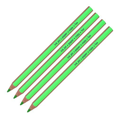 Staedtler Textsurfer Dry Highlighter Pencil 128 64 Drawing for Writing Sketching Inkjet,paper,copy,fax(pack of 4) (Green 4 Pencils) by Staedtler