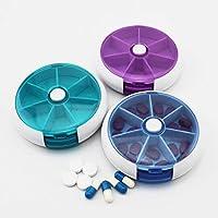 Kingken 1PC 7Tage Tablett rund Pillendose Medizin Spender tragbaren Kit (zufällige Farbe) preisvergleich bei billige-tabletten.eu
