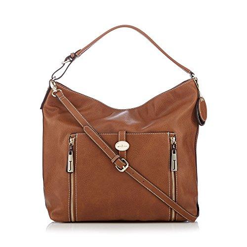 j-by-jasper-conran-womens-tan-zip-detail-shoulder-bag
