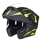 GYFY Desconteno Casco Casco de la Motocicleta Anti-Niebla Doble Lente Seguridad Dot...