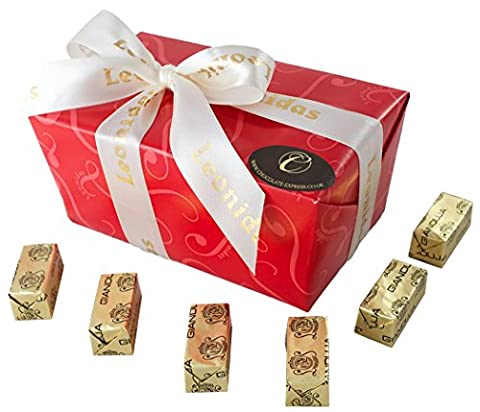 Pralinen Schokolade: 23 Leonidas Gianduja Schokoladen, Hochwertige Mandel & Hasselnuss Pralinen, erstklassige Belgische Geschenke.