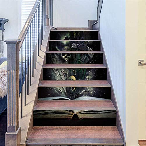 Treppenaufkleber Treppenaufkleber Adhesif Escalier Treppen Tapete 3d Wandaufkleber Wohnkultur Halloween Dekoration