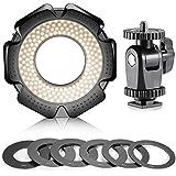 Neewer® R-160 160 Piezas 5600K 10W mini LED Macro Luz del anillo con 6 protección (49mm / 52mm / 55mm / 58mm / 62mm / 67mm) para macro / / / lente Tamron Canon Nikon Sony Sigma /
