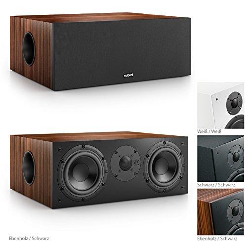 Nubert nuBox CS-413 Soundbar-/Centerspeaker 2-Wege (2x 15,0 cm Tieftöner, 2,5 cm Hochtöner, 220/300 Watt, 55-22000 Hz), Stück, Ebenholz / Schwarz