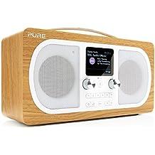 Pure Evoke H6 Radio (DAB/DAB+ Digital- und UKW-Radio mit Bluetooth und Küchen-Timer) eiche