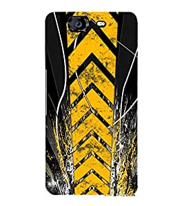 PrintVisa Designer Back Case Cover for Micromax Canvas Knight A350 :: Micromax A350 Canvas Knight (orange purple sliver yellow maryoon)