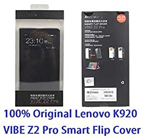 Lenovo Smart Wake Leather Case For Lenovo Vibe Z2 Pro (Black)