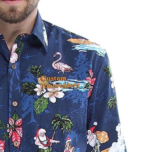 Hawaii-Hangover-manga-larga-de-encargo-del-bordado-de-los-hombres-encaja-un-medio-navidad-santa-camisa-azul-camisa-hawaiana