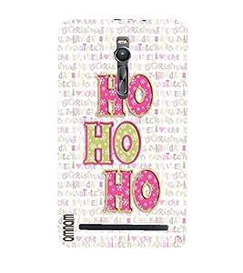 Omnam Colorful Hoho Ho Printed On White Back Ground Designer Back Cover Case For Asus Zenfone 2