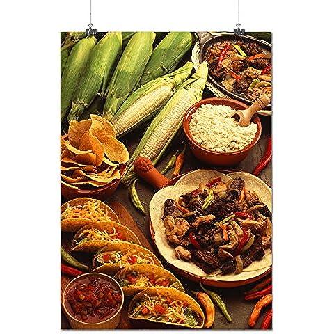 Taco Cibo Messico Pasto Opaco/Lucida Poster A1 (84cm x 60cm)   (Aragosta Torta)
