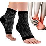 aZengear Arch Support Socks for Men & Women - Plantar Fasciitis Socks - Ankle Compression Support Sleeves - Foot Compression Sleeves - Heel Brace for Pain Relief (Pair)