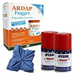 Lyra 2 x 100 ml Pet IPERON + 2 x 100 ml Ardap Fogger Ungeziefer + Microfasertuch
