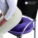 RELAX Cushion Coussin anti-escarres circulaire, en polyuréthane, Bleu, 38x 8x 38cm