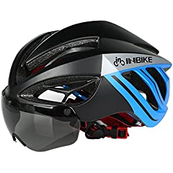 Fastar Casco de bicicleta con gafas casco urbana para bicicleta de montaña, carretera