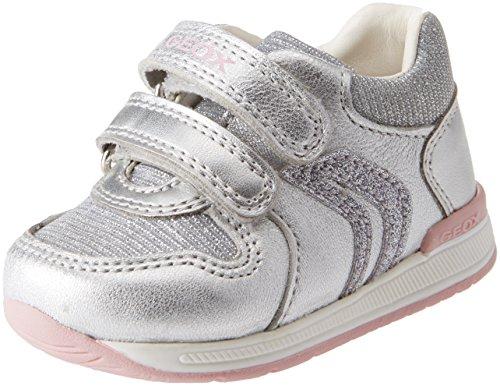 Geox b rishon b, scarpe da ginnastica basse bambina, argento (silver), 24 eu