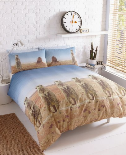 Image of #Bedding Collection Meerkats In The Desert (Single (Includes 1 Pillowcase))
