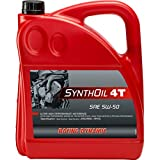 Racing Dynamic Motorrad-Motoröl 4-takt Synthoil 4T SAE 5W-50 synthetisch 4000 ml, Unisex, Multipurpose
