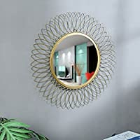 GIG Handicrafts Metal Wall Mirror (59 x 59 cm, Gold)