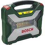 Bosch 2607019330 X-line Coffret de mèches et forets Titane 100 pièces