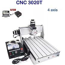 Máquina de grabado CNC Router USB, fresado de 4 ejes 4eje 3020T