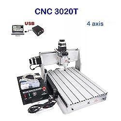 CNC Fräsmaschine 3020T 4 Achse Graviermaschine USB CNC Router 200mm x 300mm Engraver Milling FräSmaschine USBCNC Software