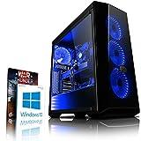 Vibox VBX-PC-278333 Gaming Desktop PC (Intel Core i3 8350K, 1000GB Festplatte, 8GB RAM, NVIDIA GeForce GTX 1060, Win 10 Home) Blau (Personal Computers)