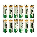 Ballylelly 12 Piezas AA LR06 3000mAh 1.2V batería NI-MH Cell RC BTY Nueva batería de Repuesto...
