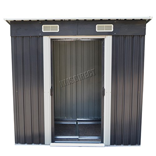 foxhunter-garden-shed-metal-pent-roof-4ft-x-8ft-outdoor-storage-with-free-foundation-anthracite-and-