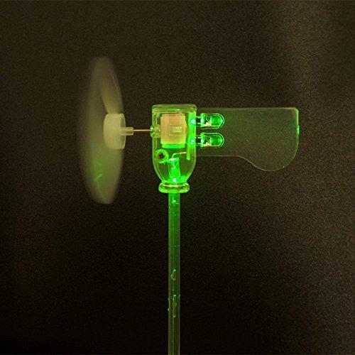 sorliva Vertikal DIY Kleine DC Motor LED Windmühle Windräder Wind Generator Modell rot