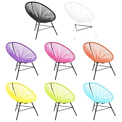 Bentley Garden - Lounge-Sessel für Garten - Retro - Hellblau/Schwarz/Pink/Weiß von Charles Bentley Garden auf Gartenmöbel von Du und Dein Garten