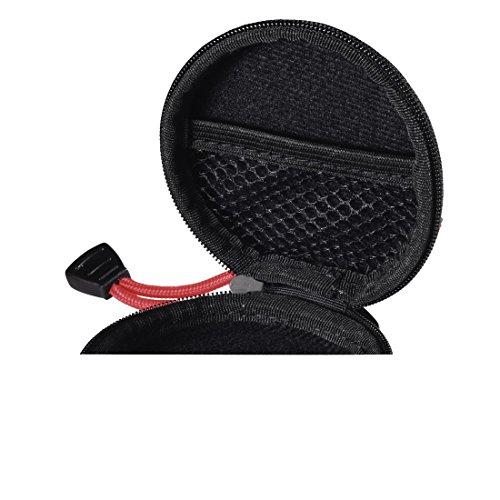 Hama Kopfhörer Tasche für In Ear Ohrhörer (robustes Hardcase, Netz-Innentasche, Karabinerhaken, Innenmaß 7 x 7 x 2,4 cm, Ohrstöpsel Schutztasche) schwarz - 5