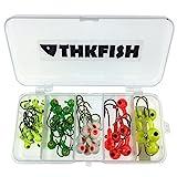 THKFISH® Jigs de pêche, 2g 4g 6g 8g 10g d'eau douce leurres de pêche Jigs Tête de pêche Bait Hooks