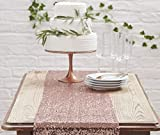 Ginger Ray Or rose chemin de table Chiffon avec paillettes or rose?Superbe Botanics