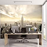 murimage Papier New York 3D 366cm x 254cm Photo Mural Manhattan Skyline Shining USA Cité Bureau Wallpaper Colle Inclus