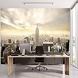 murimage Carta Parati New York 366 x 254 cm Manhattan Skyline City Città Wallpaper fotomurali Poster Gigante Ufficio Include Colla