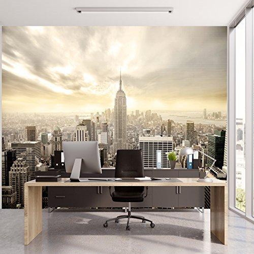 livingdecoration Papier Peint New York 366cm x 254cm Manhattan Skyline Shining Colle inclu Photo Mural Tableaux muraux déco XXL