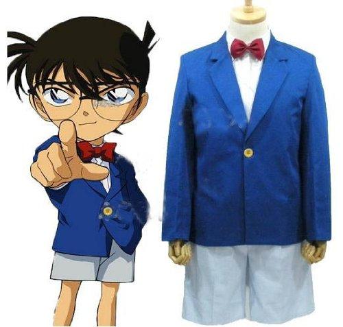 conan Detective Conan Cosplay Kostüme Brauch(Mailen Sie uns Ihre Größe),Größe XL:175-180 (Kostüme Conan Erwachsenen)