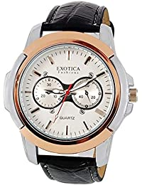 Exotica White Dial Analogue Watch for Men (EFG-05-TT-W)