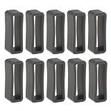 Gazechimp 10 Stücke Ersatzteile Loop Schlaufe Silikon Armband Halter Schnalle Farbe Auswählen - Dunkelgrau