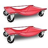 WEILANDEAL PKW Rangierhilfen 2 StuckRollwagen with Farbe:Rot Rollwagen
