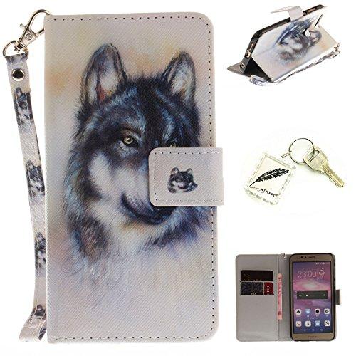 Preisvergleich Produktbild Silikonsoftshell PU Hülle für Huawei Honor 8 (5,2 Zoll) Tasche Schutz Hülle Case Cover Etui Strass Schutz schutzhülle Bumper Schale Silicone case+Exquisite key chain X1#KE (4)