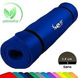 Movit XXL Pilates Gymnastikmatte, Yogamatte, phthalatfrei, SGS geprüft, 190 x 60 x 1,5cm, Royalblau