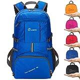 ZOMAKE 35L Ultraleicht Faltbare Wanderrucksack, Multi-Funktionale Stopfbare Wasserdichte Casual Camping Tagesrucksack für Outdoor-Sport Klettern Bergsteiger(Dunkelblau)